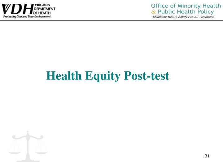 Health Equity Post-test