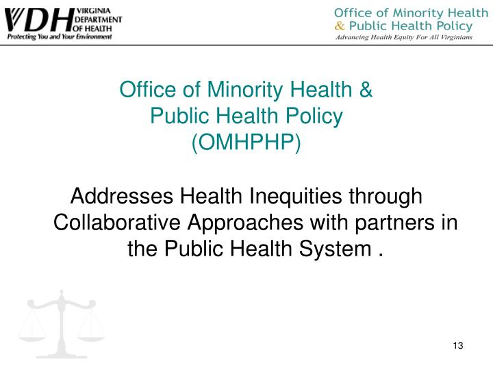 Office of Minority Health &