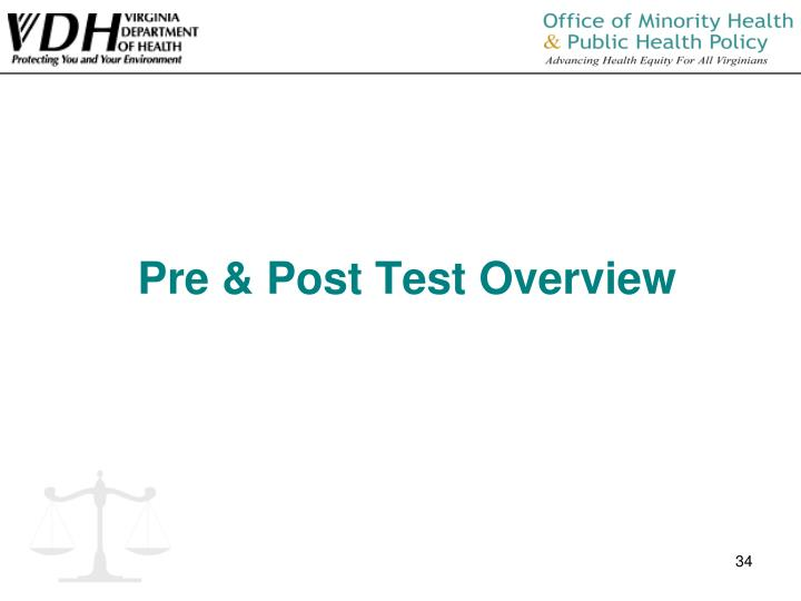 Pre & Post Test Overview