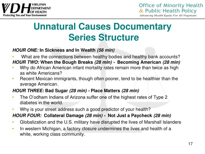 Unnatural Causes Documentary