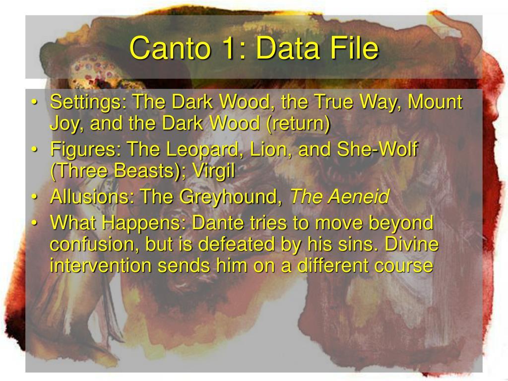 Canto 1: Data File