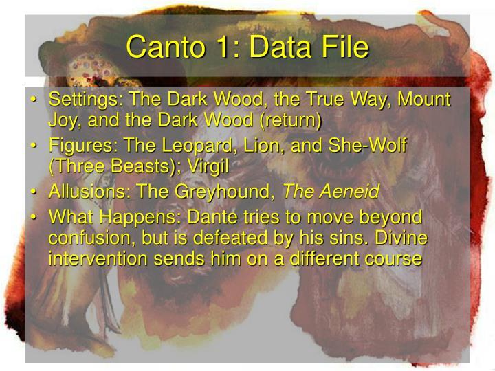 Canto 1 data file