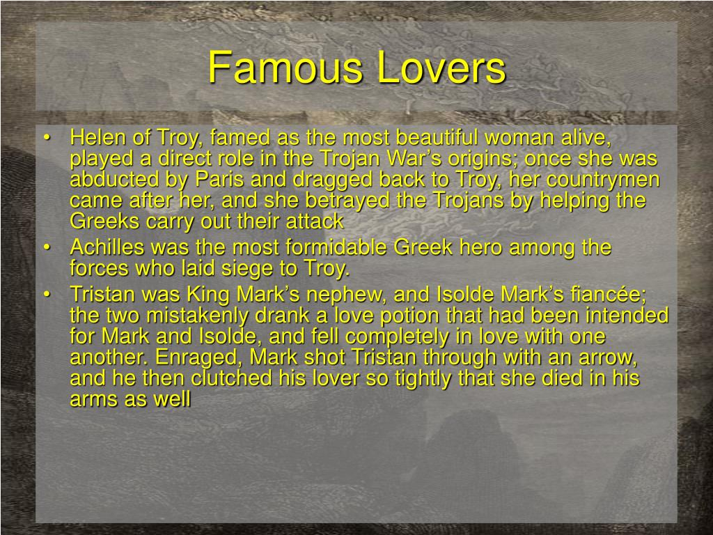 Famous Lovers