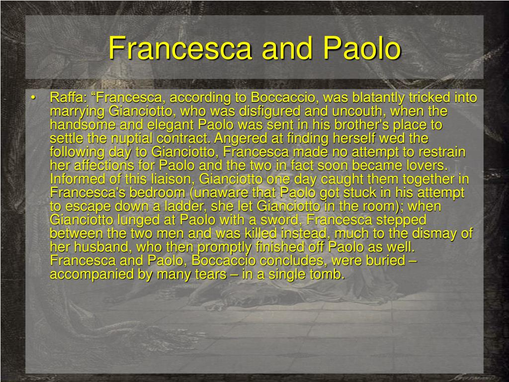Francesca and Paolo
