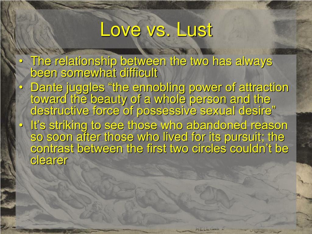 Love vs. Lust