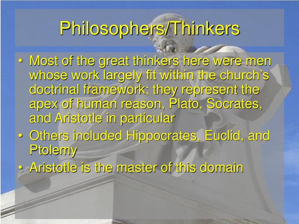 Philosophers/Thinkers