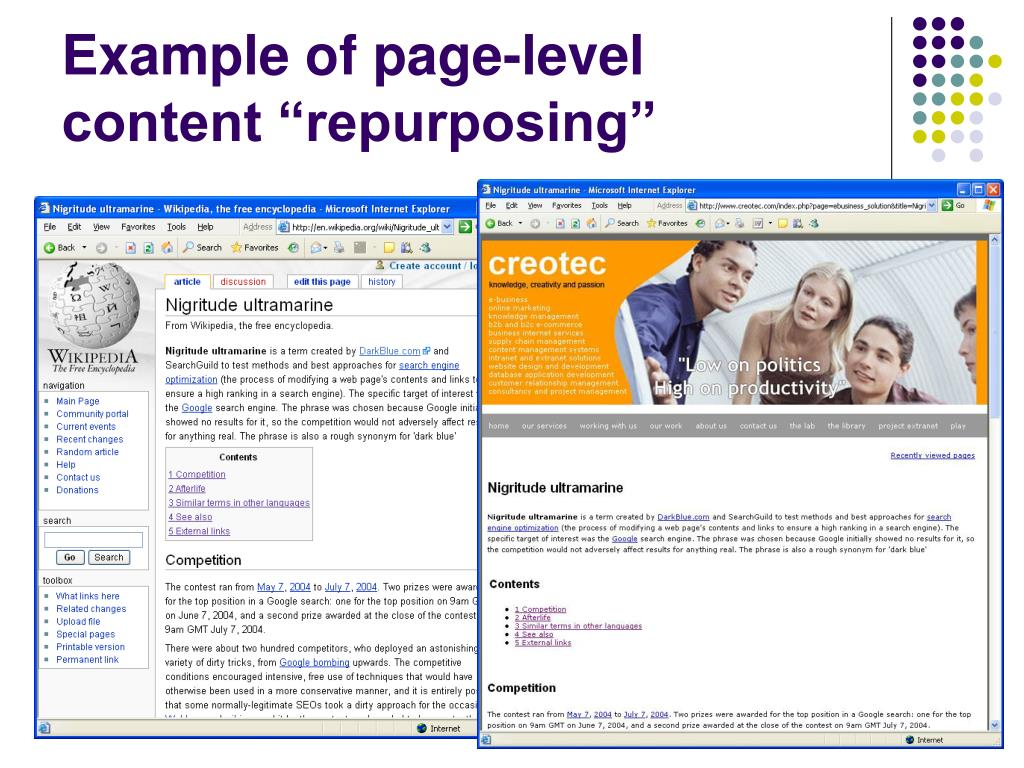 Example of page-level