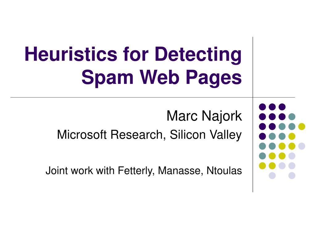 Heuristics for Detecting