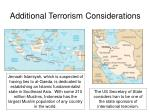 additional terrorism considerations2