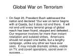 global war on terrorism