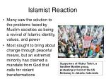 islamist reaction