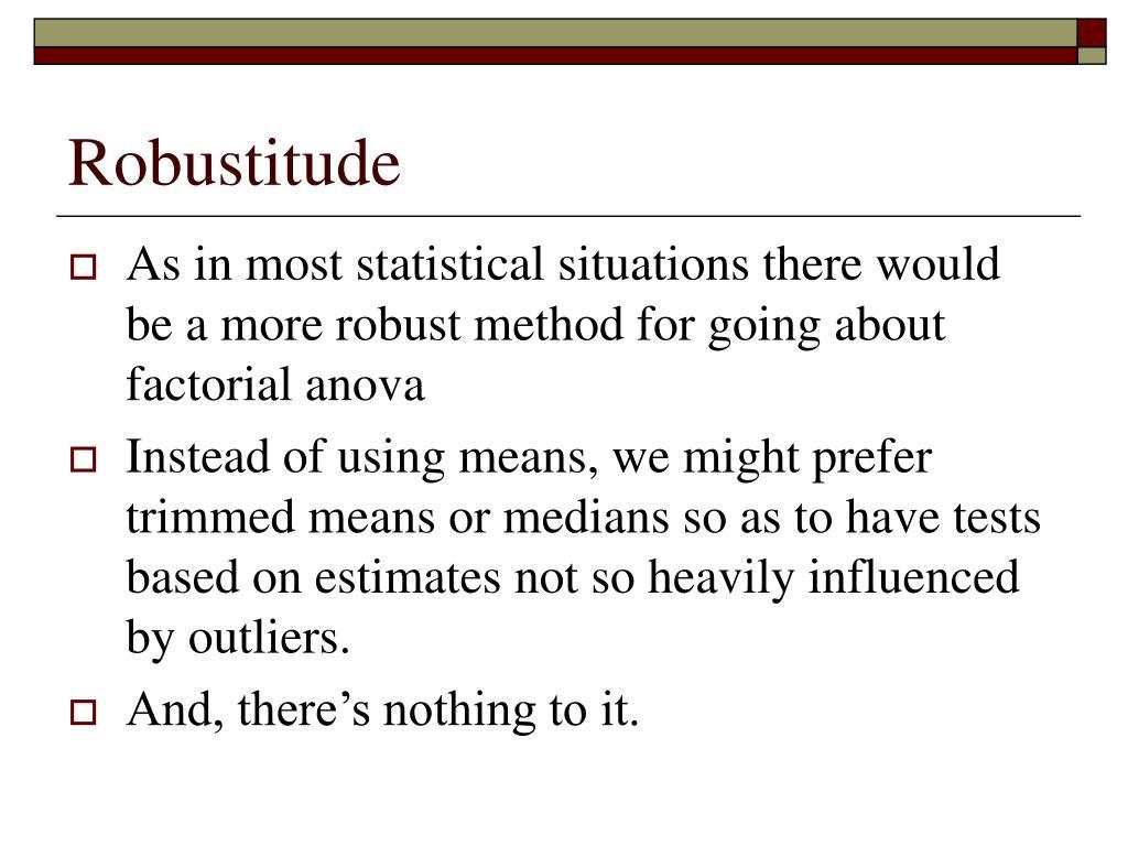 Robustitude