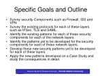 specific goals and outline