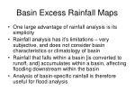 basin excess rainfall maps