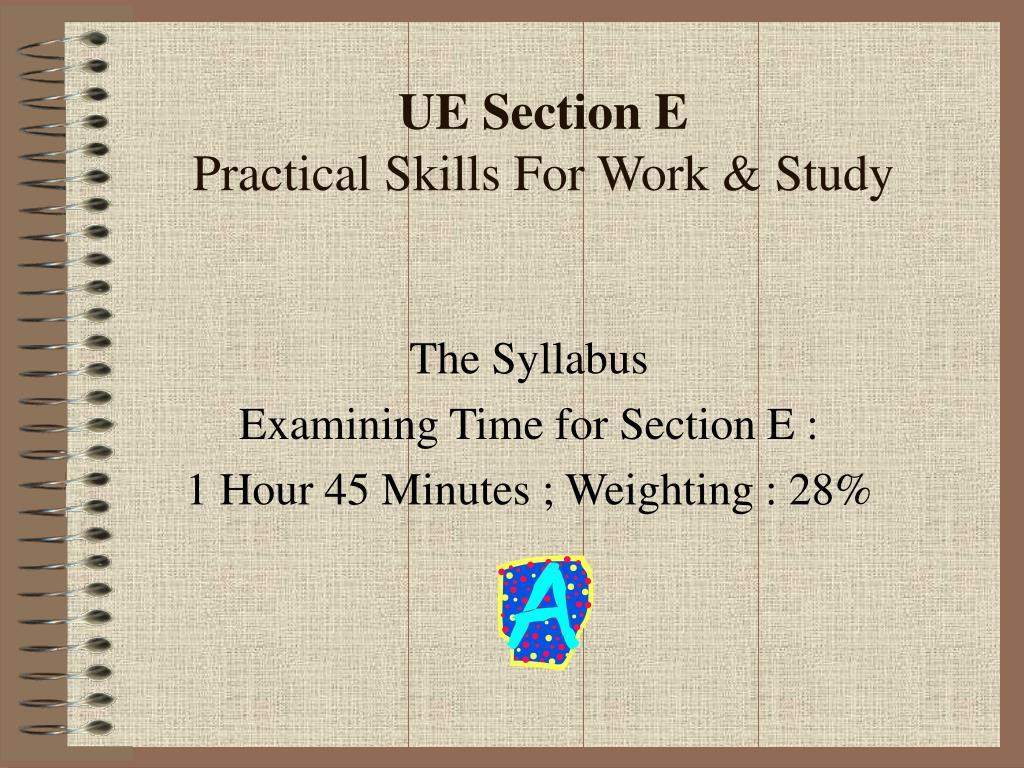 UE Section E