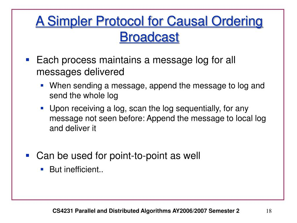 A Simpler Protocol for Causal Ordering Broadcast