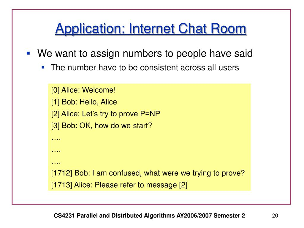 Application: Internet Chat Room