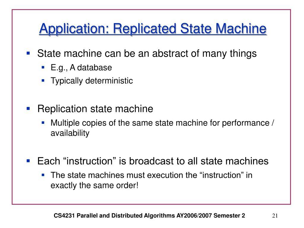 Application: Replicated State Machine