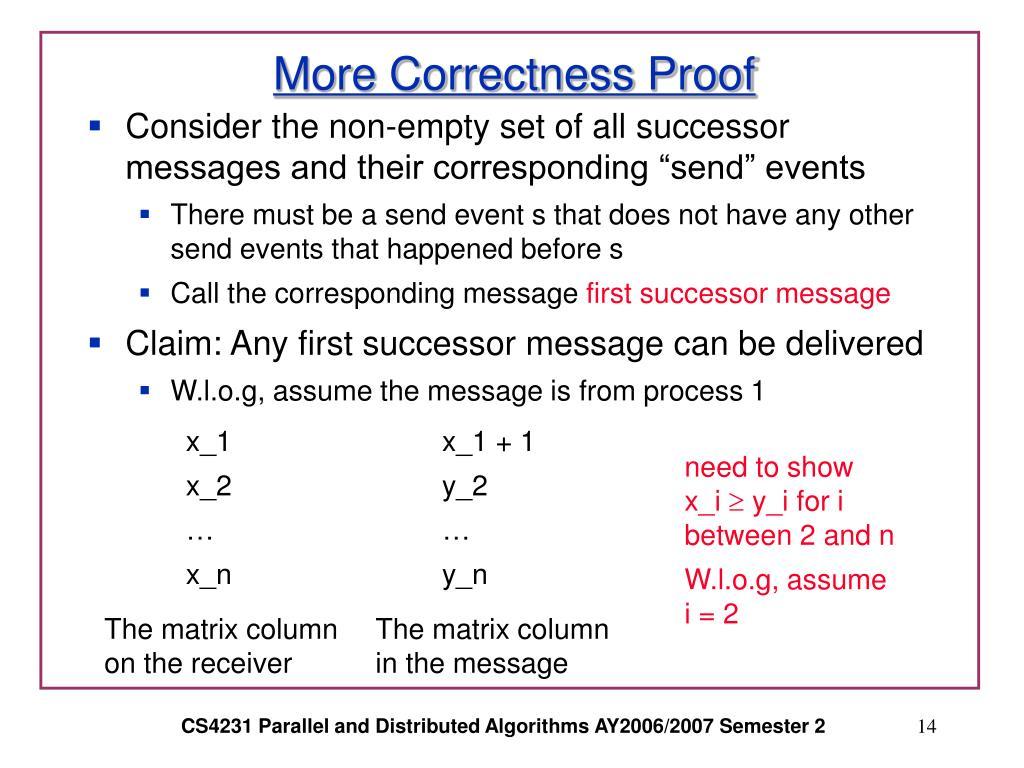 More Correctness Proof