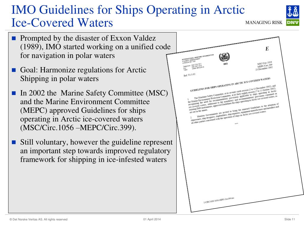 IMO Guidelines for Ships Operating in Arctic Ice-Covered Waters