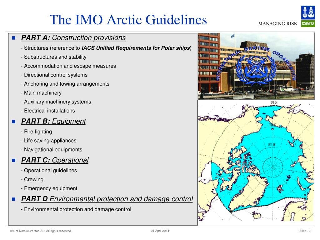 The IMO Arctic Guidelines