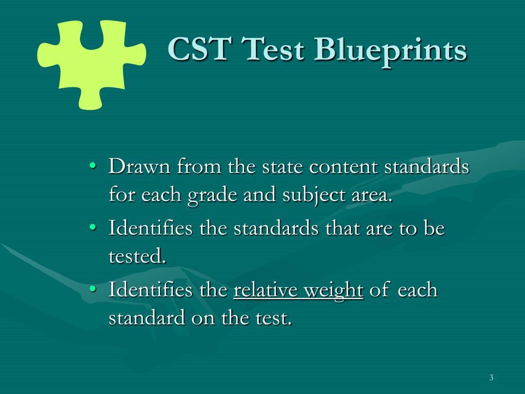 CST Test Blueprints