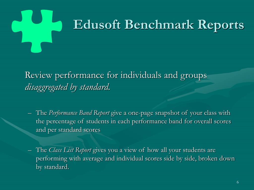 Edusoft Benchmark Reports