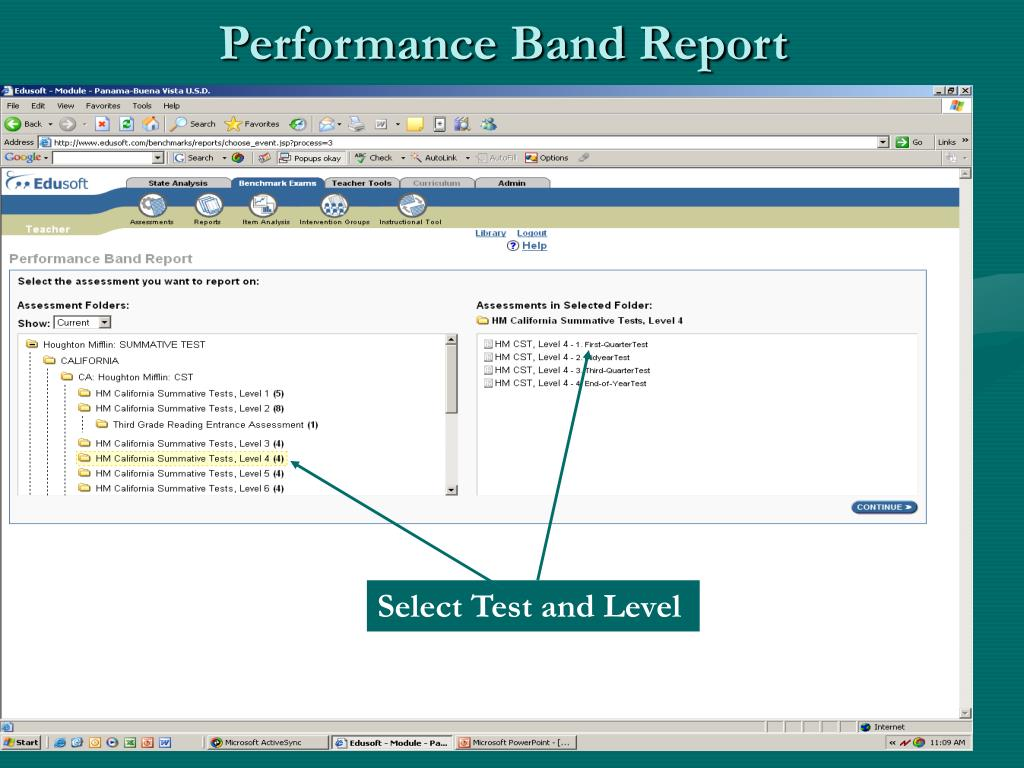 Performance Band Report