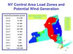 ny control area load zones and potential wind generation