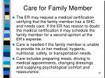 care for family member