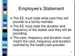 employee s statement