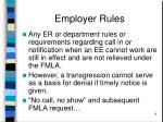 employer rules