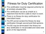 fitness for duty certification