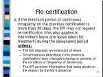 re certification50