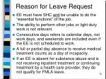 reason for leave request