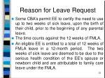 reason for leave request23
