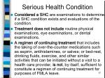 serious health condition