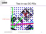 two in vac dc pds