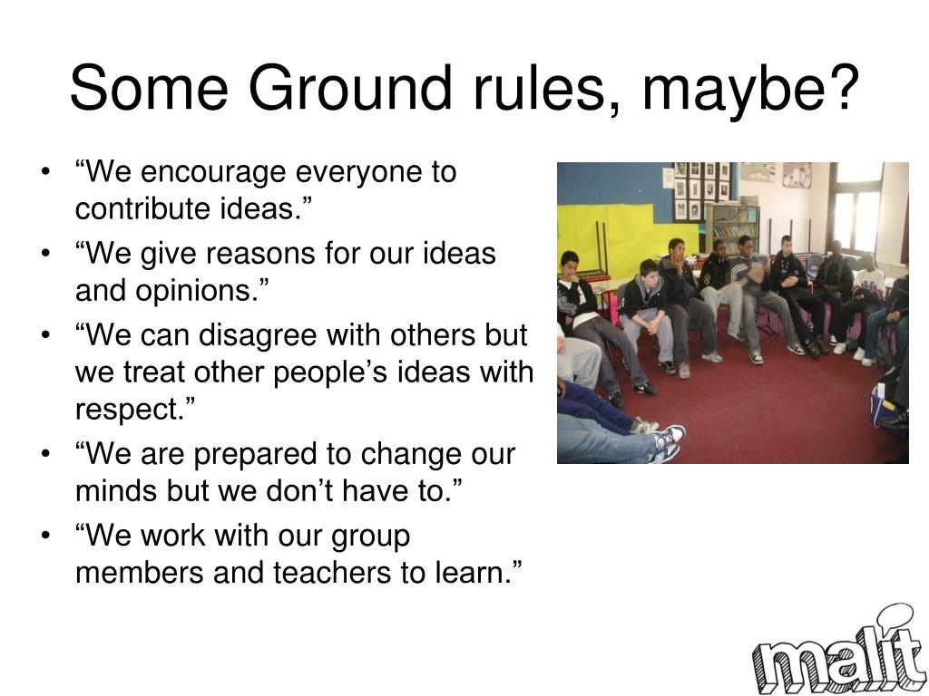 Some Ground rules, maybe?