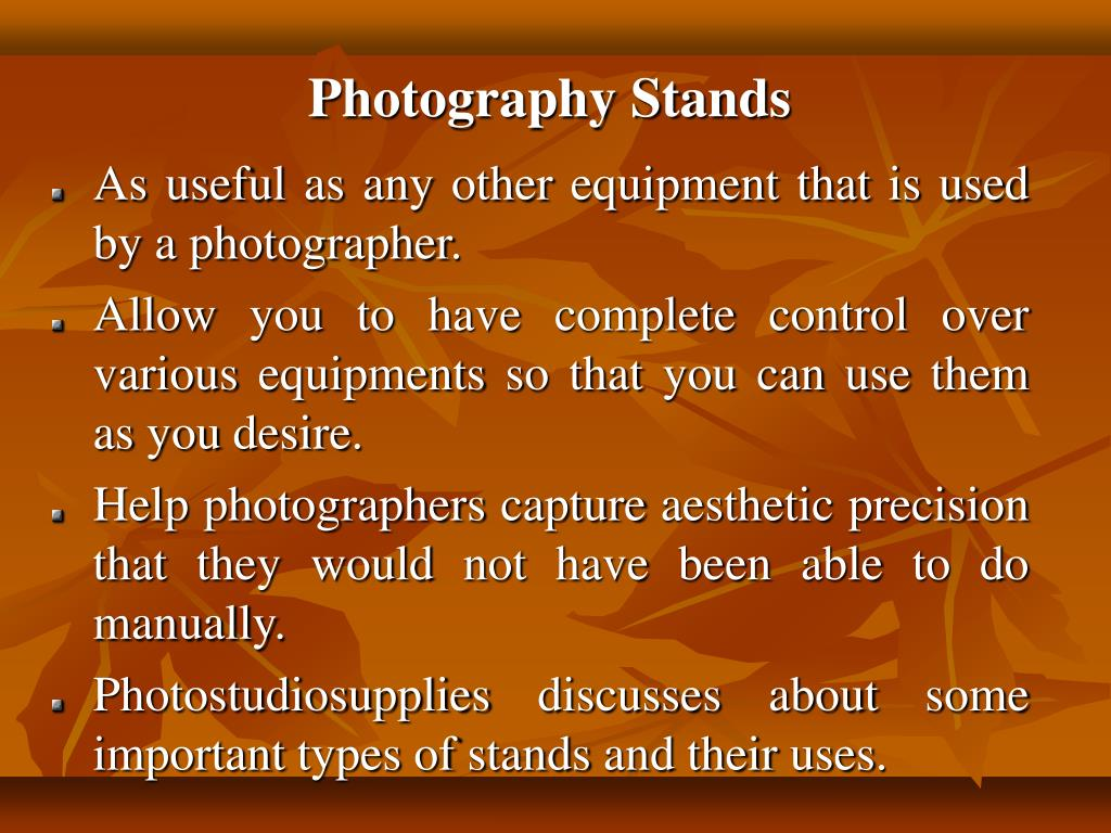 Photography Stands