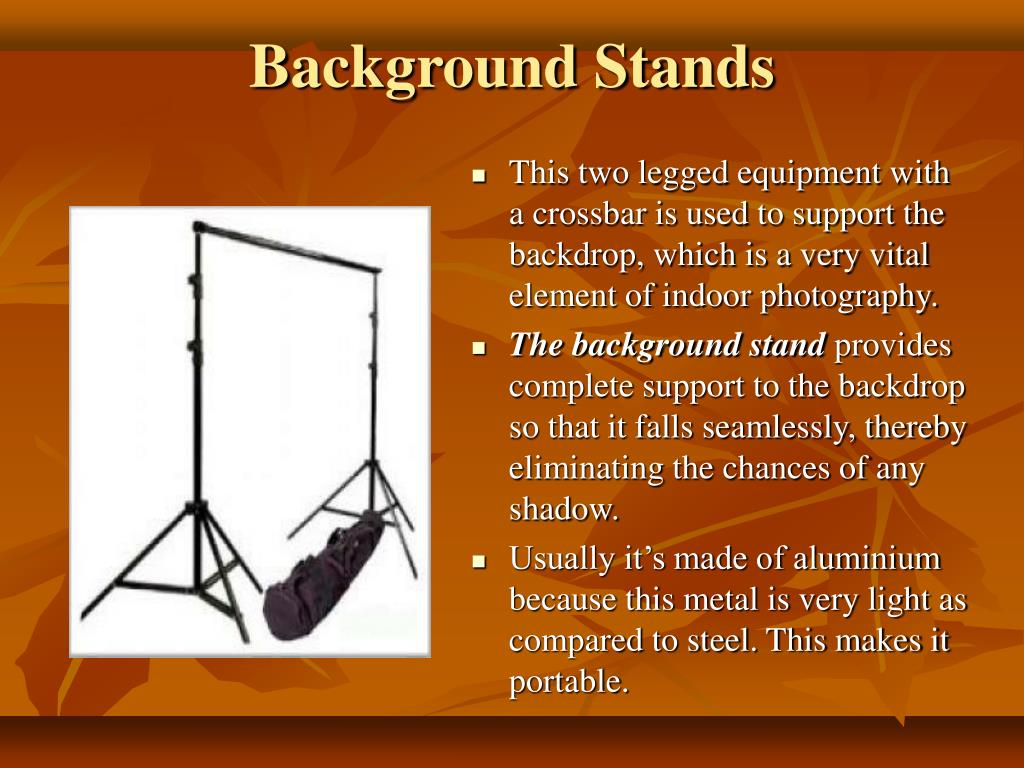 Background Stands