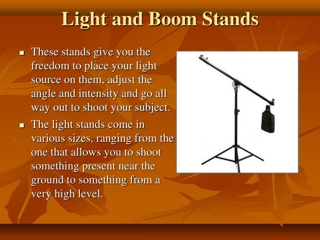 Light and Boom Stands