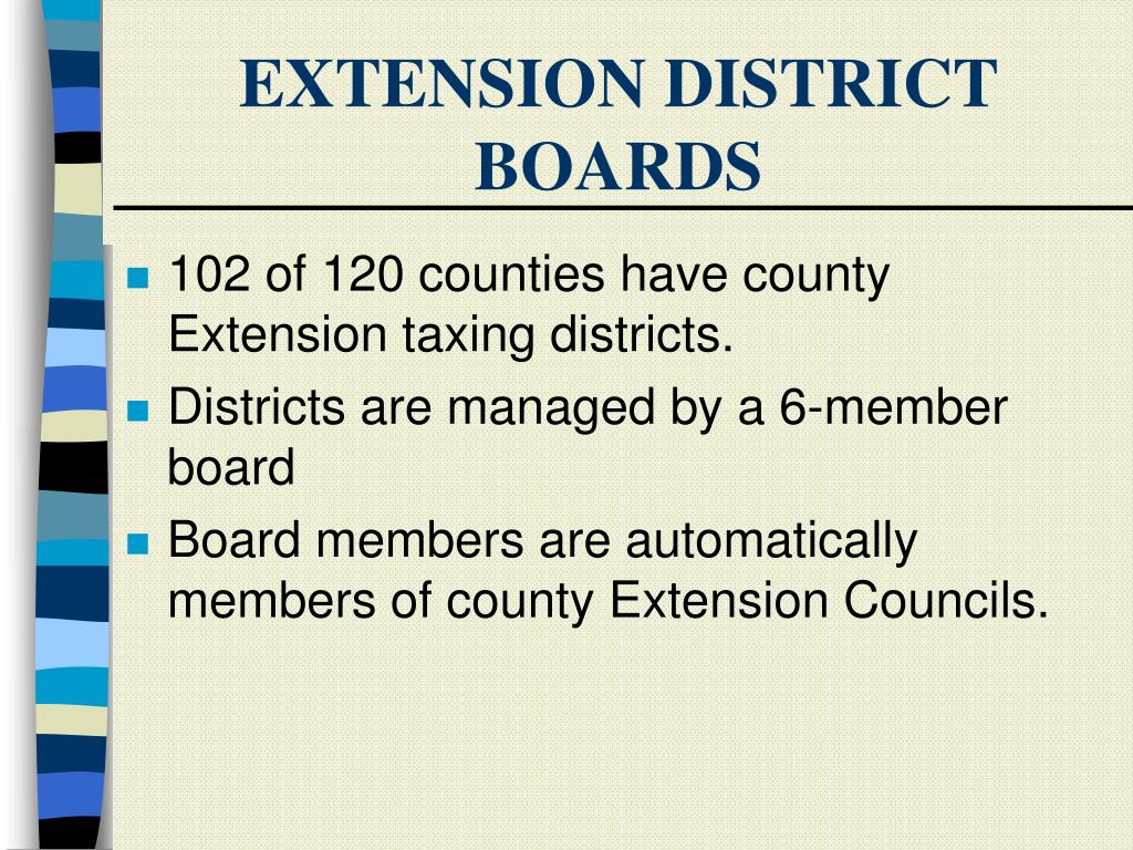 EXTENSION DISTRICT BOARDS
