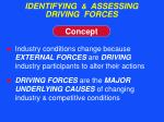 identifying assessing driving forces