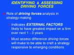 identifying assessing driving forces34