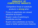 principle of competitive markets24