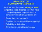 principle of competitive markets26