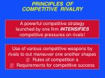 principles of competitive rivalry