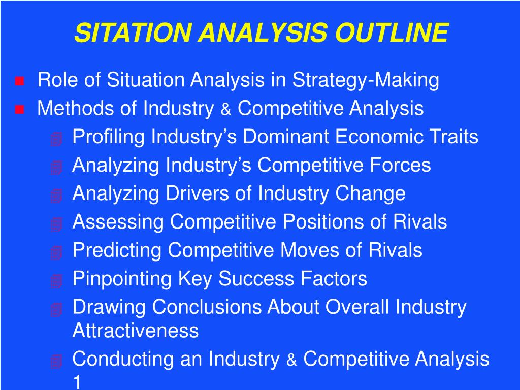 sitation analysis outline l.