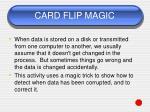 card flip magic